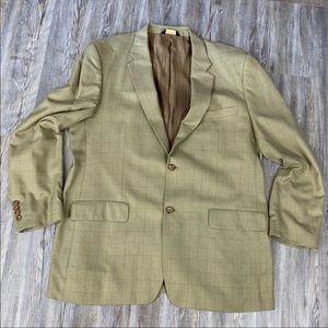 Joseph & Feiss Gold Suit Sport Coat Blazer Jacket